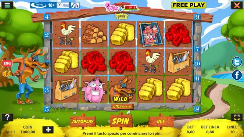 Pigs & Bricks :: Main Game Board