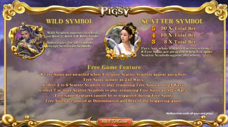 Pigsy :: Wild and Scatter Rules