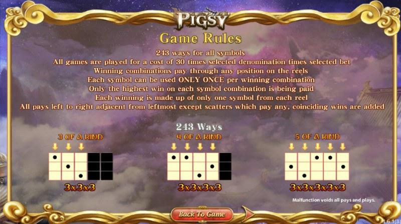 Pigsy :: 243 Ways to Win