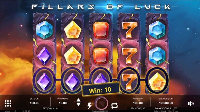 Pillars of Luck :: A three of a kind win