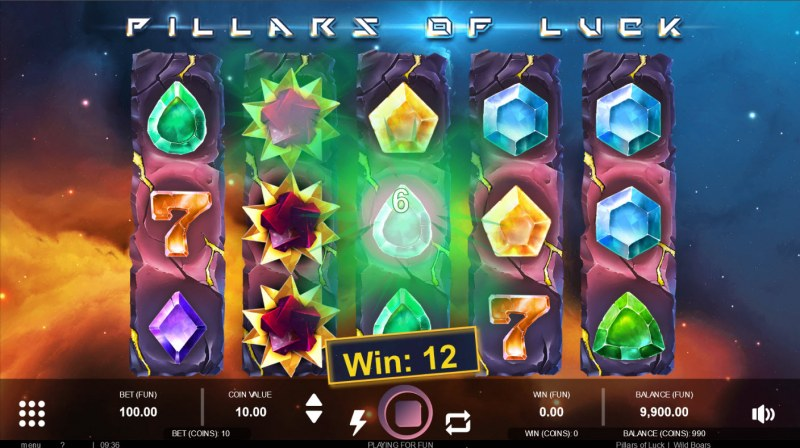 Pillars of Luck :: Multiple winning combinations