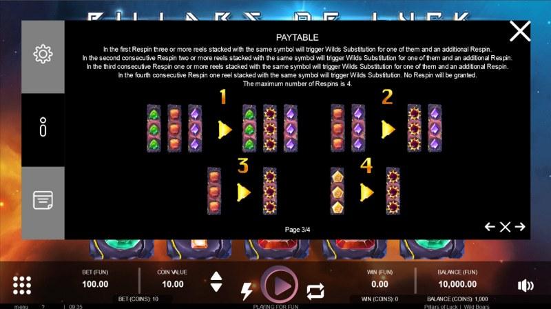 Pillars of Luck :: Respin Feature