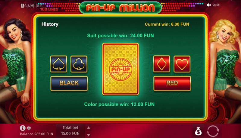 Pin-Up Million :: Gamble feature