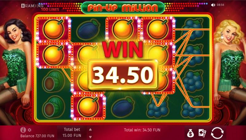 Pin-Up Million :: Multiple winning paylines