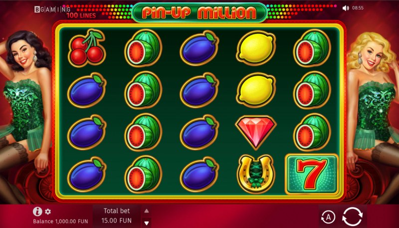 Pin-Up Million :: Base Game Screen