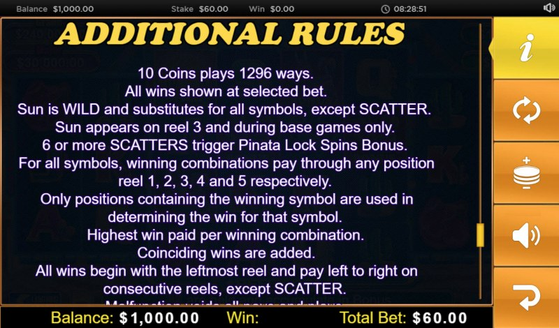 Pinata Bucks :: General Game Rules