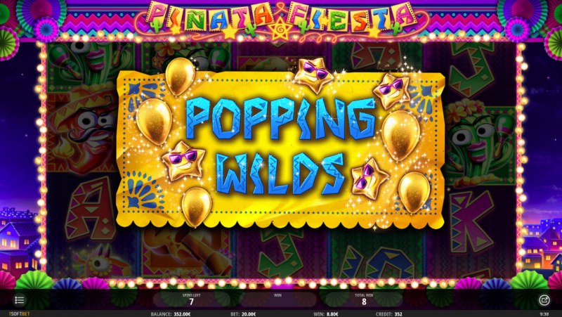 Pinata Fiesta :: Popping Wilds feature triggered