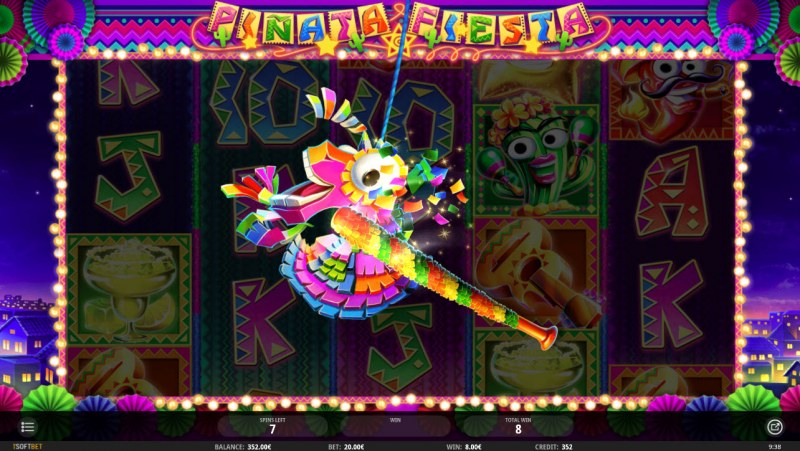 Pinata Fiesta :: Random features can be awarded during any spin