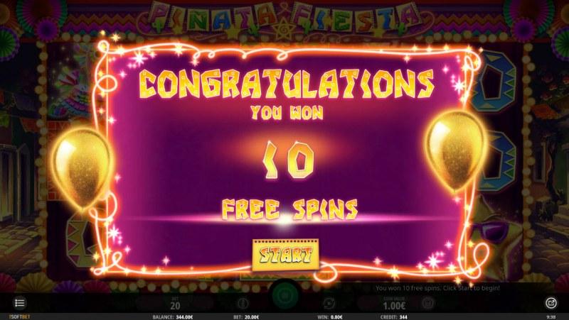 Pinata Fiesta :: 10 Free Spins Awarded