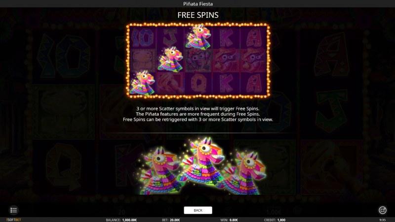 Pinata Fiesta :: Free Spins Rules