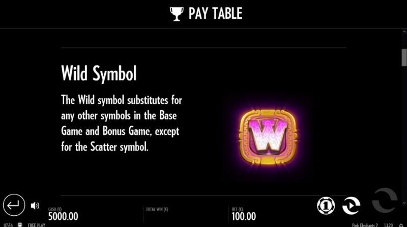 Pink Elephants 2 :: Wild Symbols Rules