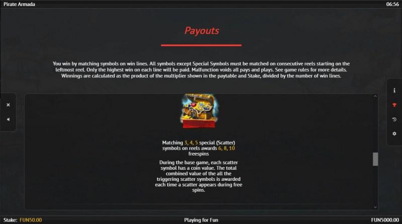 Pirate Armada :: Scatter Symbol Rules