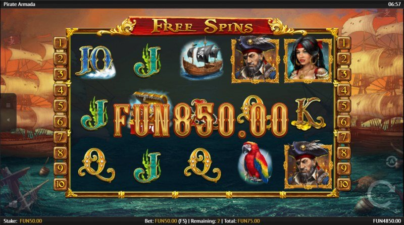 Pirate Armada :: Scatter Win