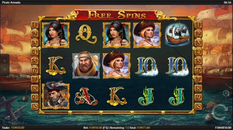 Pirate Armada :: Free Spins Game Board