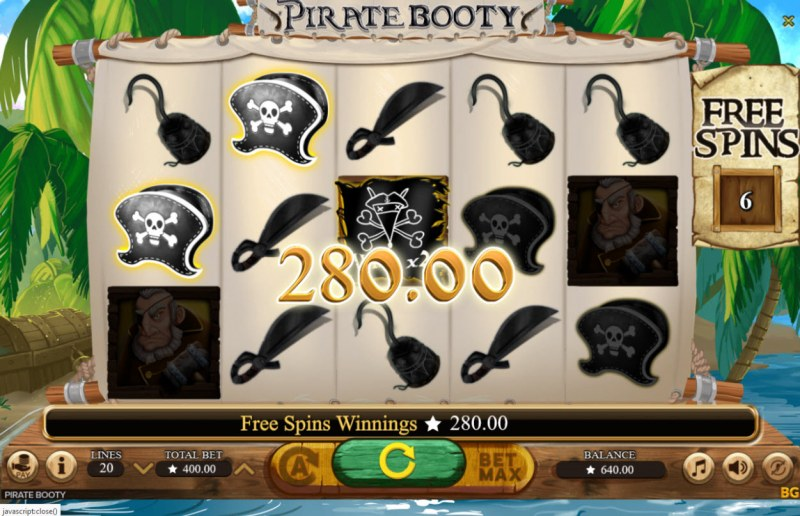 Pirate Booty :: Free Spins Game Board
