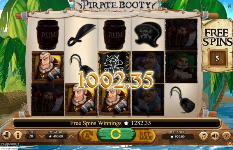 Pirate Booty :: Multiple winning paylines