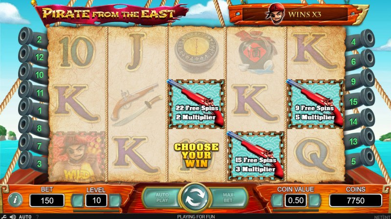Pirate from the East :: Pick Your Free Spins Feature To Play