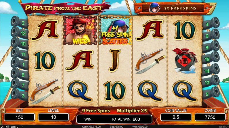 Pirate from the East :: Free Spins Game Board