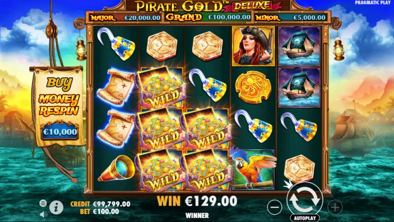 Pirate Gold Deluxe :: Multiple winning combinations