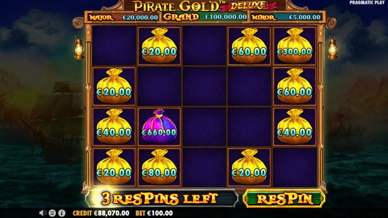 Pirate Gold Deluxe :: Bonus game board