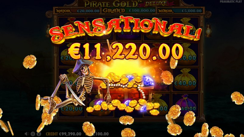 Pirate Gold Deluxe :: Total Feature Payout