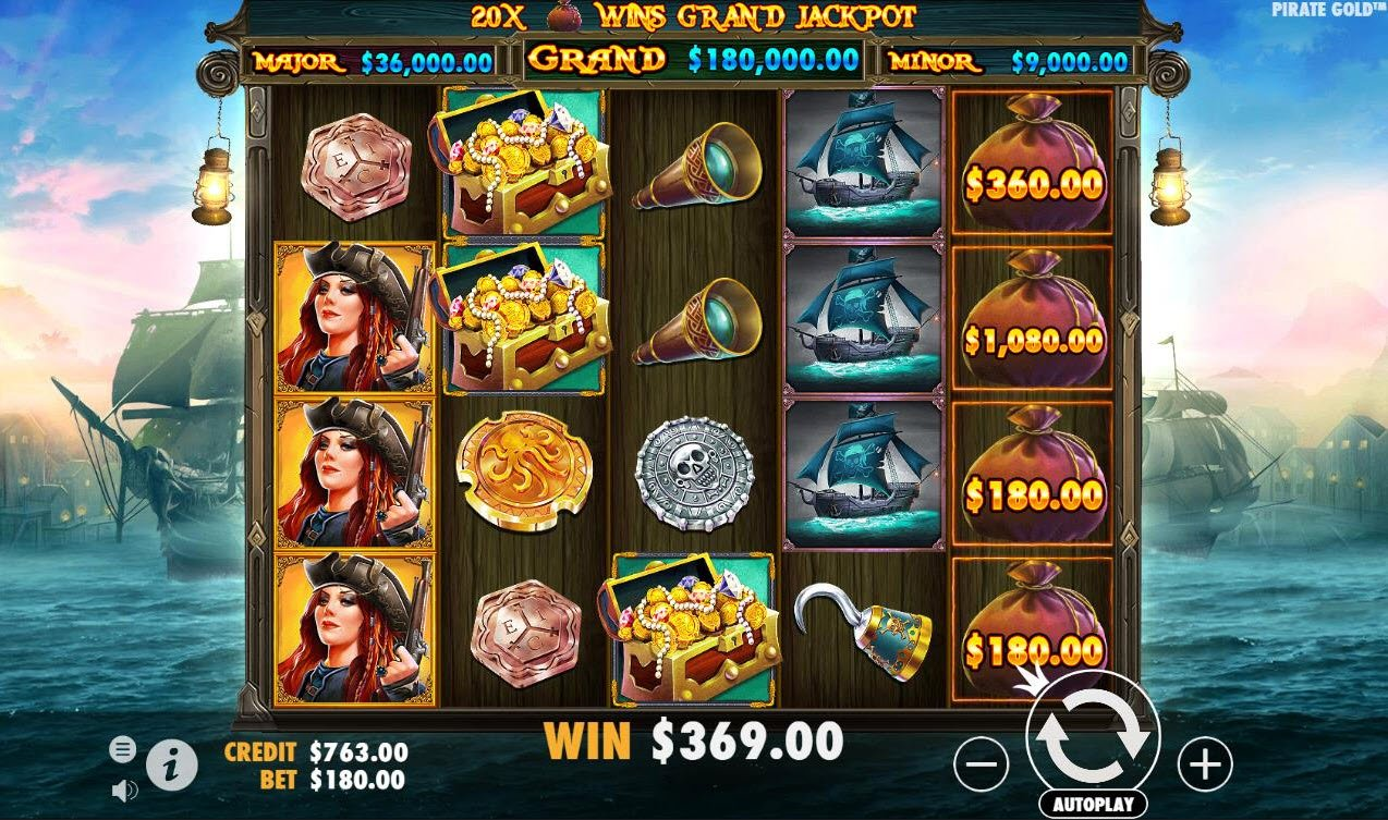 Play slots at Jaak Casino: Jaak Casino featuring the Video Slots Pirate Gold with a maximum payout of $100,000