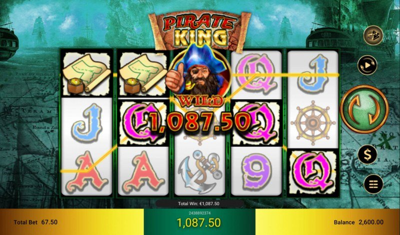 Pirate King :: Multiple winning combinations leads to a big win