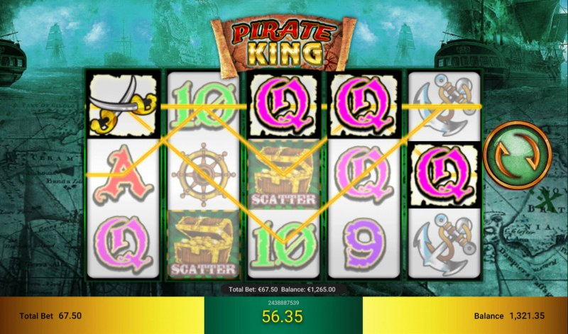 Pirate King :: Game pays in both directions