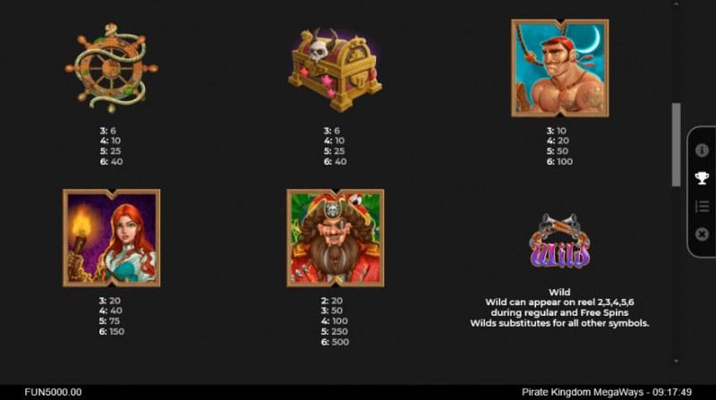Pirate Kingdom Megaways :: Paytable - High Value Symbols