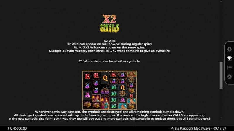 Pirate Kingdom Megaways :: Wild Symbols Rules
