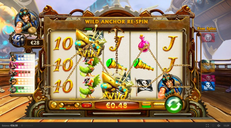 Pirate on the Edge :: Multiple winning paylines