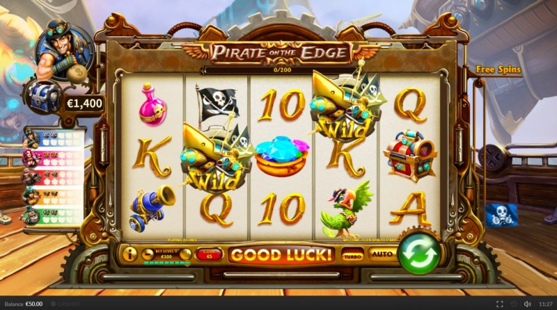 Pirate on the Edge :: Main Game Board