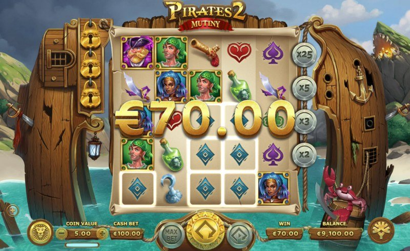 Pirates 2 Mutiny :: Respins triggers additional winning combinations