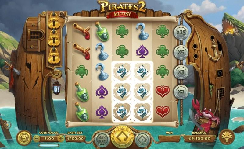 Pirates 2 Mutiny :: Multiple winning combinations
