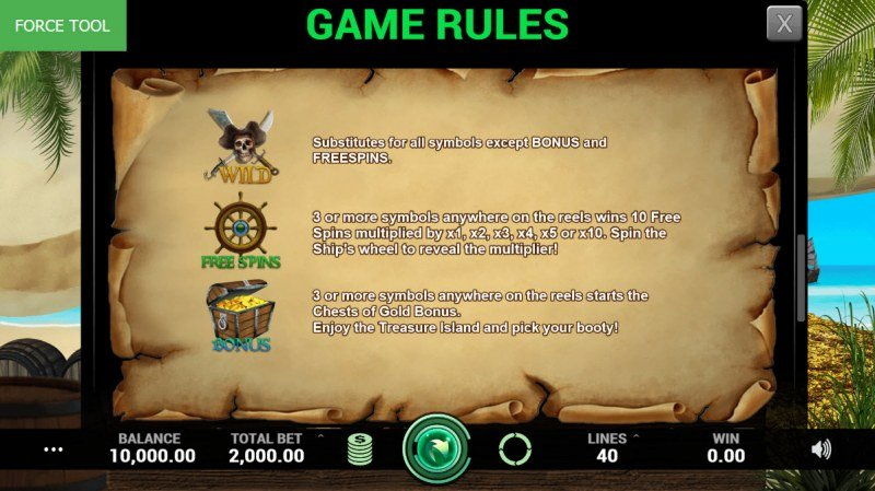 Pirates Fortune :: Wild and Scatter Rules