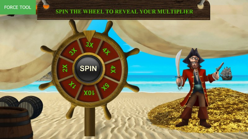 Pirates Fortune :: Spin the wheel to win a free spins win multiplier