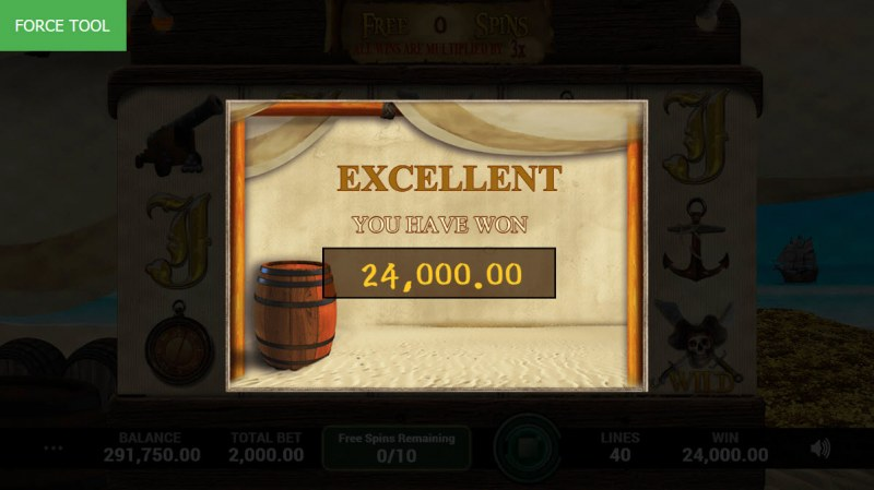 Pirates Fortune :: Total free spins payout