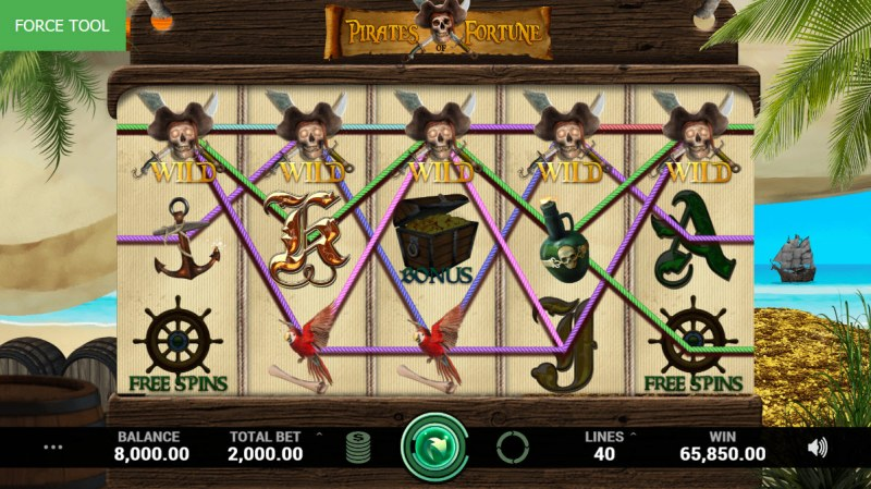 Pirates Fortune :: Multiple winning combinations leads to a big win