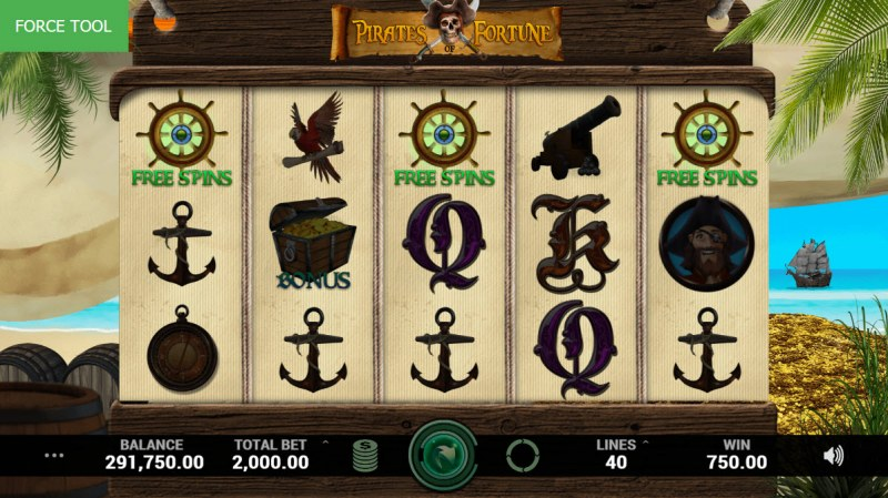 Pirates Fortune :: Scatter symbols triggers the free spins feature