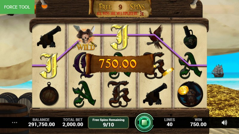 Pirates Fortune :: Free Spins Game Board