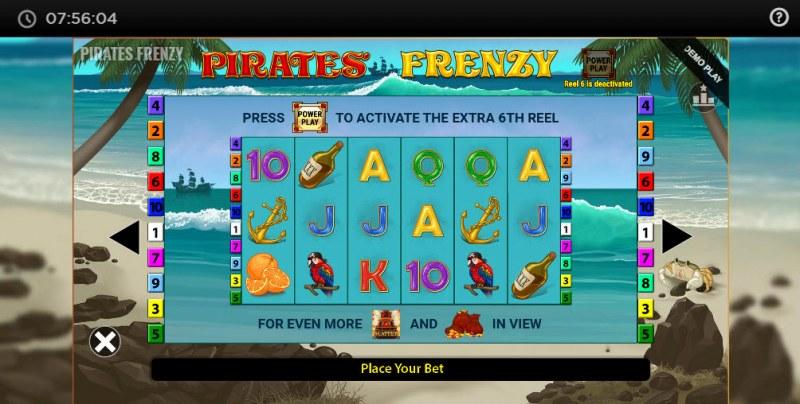 Pirates' Frenzy :: Power Reel
