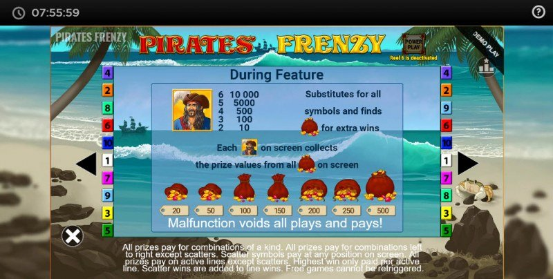 Pirates' Frenzy :: Feature Rules