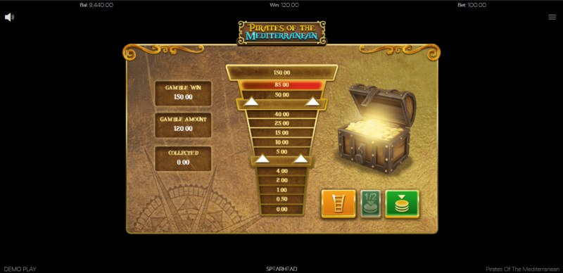 Pirates of the Mediterranean :: Ladder gamble feature