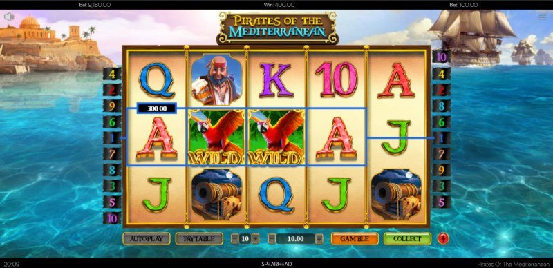 Pirates of the Mediterranean :: A four of a kind win