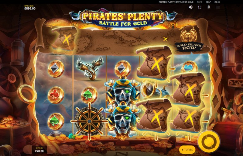 Pirates' Plenty Battle for Gold :: Collect 50 maps to trigger Wild Island Row