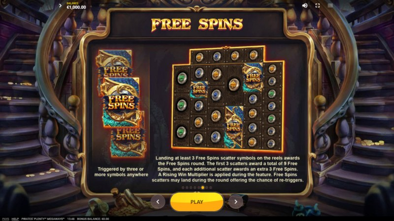 Pirates Plenty Megaways :: Free Spin Feature Rules