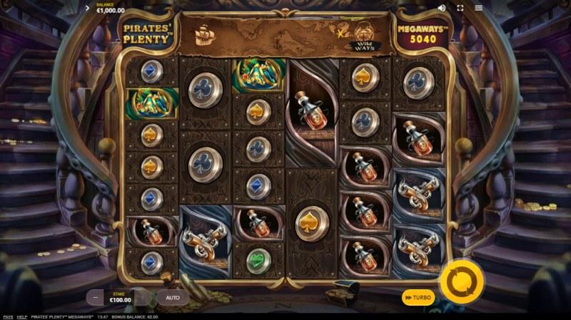 Pirates Plenty Megaways :: Main Game Board