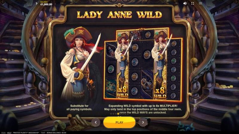 Pirates Plenty Megaways :: Lady Anne Wild