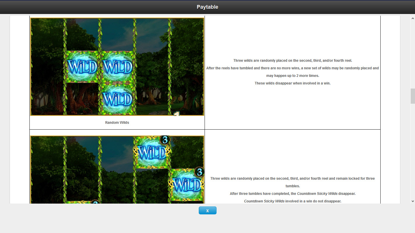 Pixies of the Forest II :: Wild Feature Rules