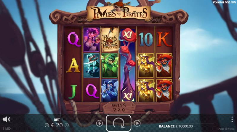 Play slots at Slotman: Slotman featuring the Video Slots Pixies vs Pirates with a maximum payout of $110,000